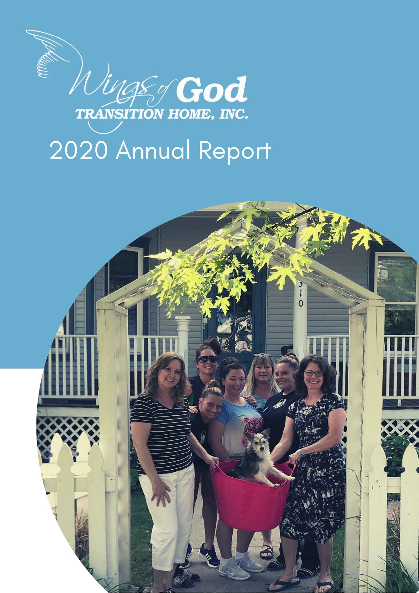 2020 Wings of God Transition Home Annual Report Page 1